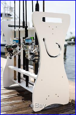 #1 Quality Fishing Rod Rack Fish Hook- Waterproof! WASH Your RODS ON The Rack