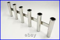 316 Stainless Steel Wall Side Mounted Rod Holder 6 Rod Rack Fishing Rod Pod f
