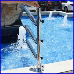 3 rods Boat Fishing Rod Holder Stainless Steel Fishing Rack Rod Adjustable