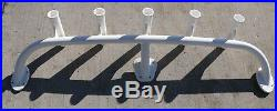 5 Pole Fishing Rod Holder T Top Rack Boat Storage Arch 63 Long White