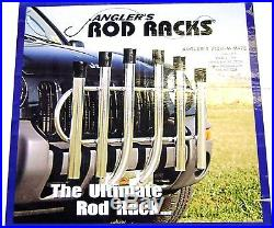 Angler's Fish-N-Mate Rod Rack 6 Rod Holder Front Vehicle Mount # 051 NEW