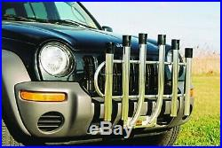 Anglers Fish N Mate 6-Holder Rod Rack Bumper Mount Bright Anodized 051