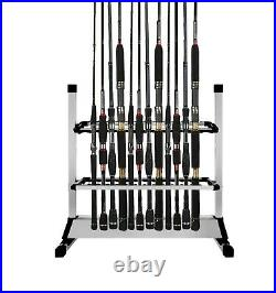 BigTron Fishing Rod Rack Holder Stand Tackle for Fishing Rod Set Capacity 24p
