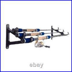 Croch 1 Pair Rack Of Wall Of Rod Of Fishing Horizontal Mounted On The Wall