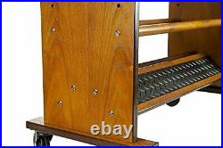 Double Sided Heavy Duty Rolling Rack for Fishing Rod Storage, Holds up to 32