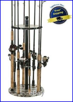 Fishing Rod Rack Hanging Stand Organizer Holder Floor Reel Storage Poles Rods US