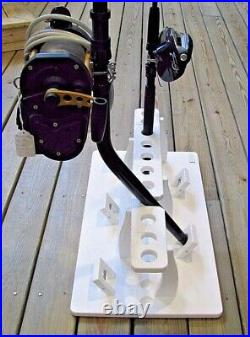 Fishing Rod Rack Holds 11 Rods & Reels Plus The Option To Hold 5 Curved Butts