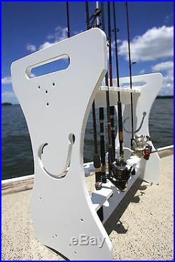 Fishing Rod Rack Hook Cut-out Design