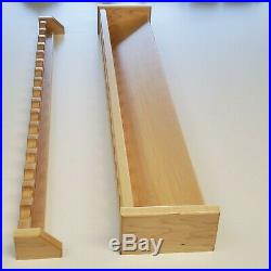 Fishing Rod Rack, Wall Mount, 37 Inch, 17 Rod Max Capacity, Solid Maple Wood