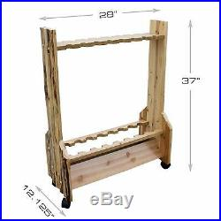 Fishing Rod Storage Rack for 16 Fish Poles Solid Pine Rustic Cabin Finish Fisher