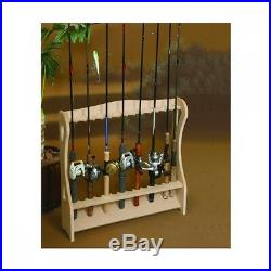 Fishing rod storage rack wood display stand for 14pcs New F/S from Japan (1000)