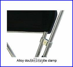 Heavy Duty Clamp on Boat Fishing Rod Rack Fits Biminis up to 75 Canopy Width
