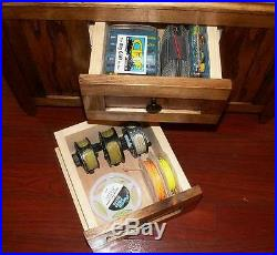 ROD & REEL CABINET with SIDE ROCK RACKS fly fishing rods Peacock Bass Taimen
