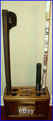 ROD & REEL CABINET with SIDE ROD RACKS fly fishing rods SALTWATER reels lures