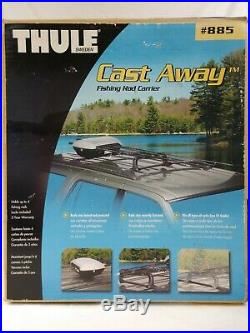 Rare! Thule Castaway 885 Fishing Rod Locking Roof Carrier Rack