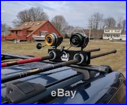 Reel Fortress 2 Rod Lockable Roof Rack Surf Fishing MADE in AMERICA Yakima Thule