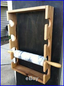Rolling Pin Rack or fishing pole rack. This one made out of Oak