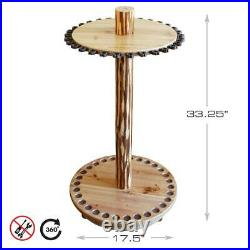 Round Spinning 30 Fishing Rod Rack Easy Assembly 360-Degree Rotation
