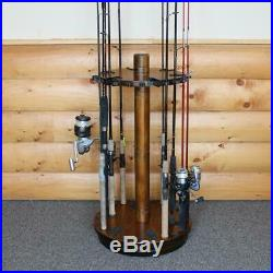 Round spinning 30 fishing rod rack no tool assembly 360-degree rotation rush