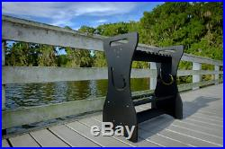 Sea Racks- Black- Hook Design Store and Organize up to 24 Fishing Rods and Ree