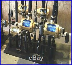 Starboard Rod Rack for 11 Rods Plus a 5 Curved Butt Big Game Rod Holder Pole RK