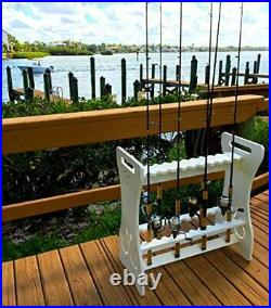 StoreYourBoard Fishing Rod Storage Rack Holds 24 Fishing Rods and Reels Weath