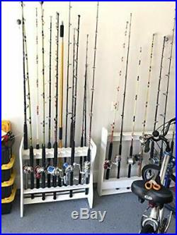 StoreYourBoard Fishing Rod Storage Rack, Holds 24 Fishing Rods and Reels, Weathe