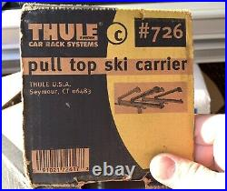 THULE 726 Ski Snowboard Racks Pull Top Extender with Lock & Key Great Condition
