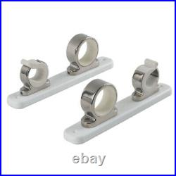 Taco Marine Taco 2-Rod Hanger WithPoly Rack Polished Stainless Steel CW4591