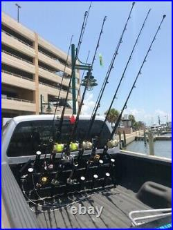 Truck rod holder. Removable & locking rod rack 19- Nautic Concepts