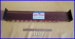 VTG 1960s Eagle Claw 12 Fishing Pole Dealer Display Rack Stand Wood RARE