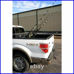 Viking Solutions 6 Rod Truck Mounted Powder Coat Steel Fishing Rack (Open Box)