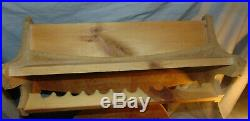 Vintage St. Croix Handcrafted Fishing Rods Double Sided Wooden Advertising Rack